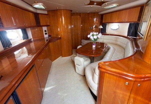 Predator 58 yacht charter, saloon