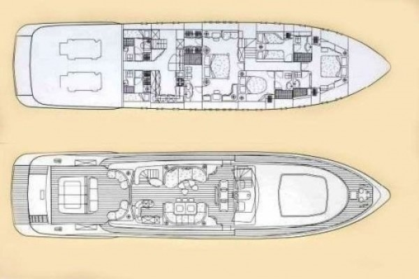 Yacht hire Mangusta 92 in Rome layout