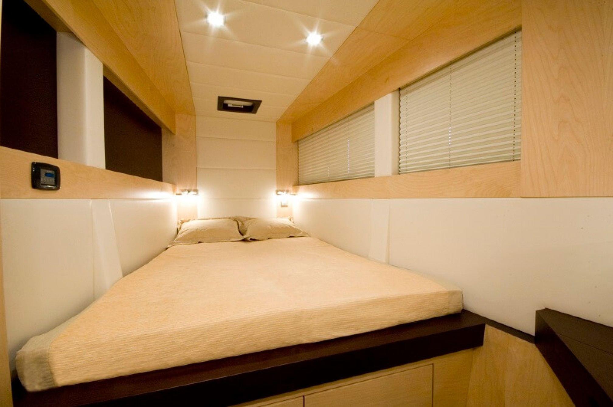 Depende IV luxury catamaran charter cabin