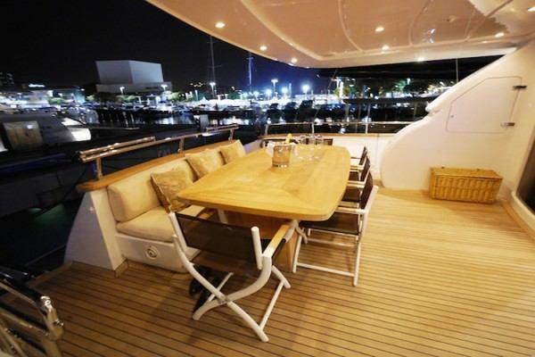 Lex yacht charter in Ibiza, sundeck