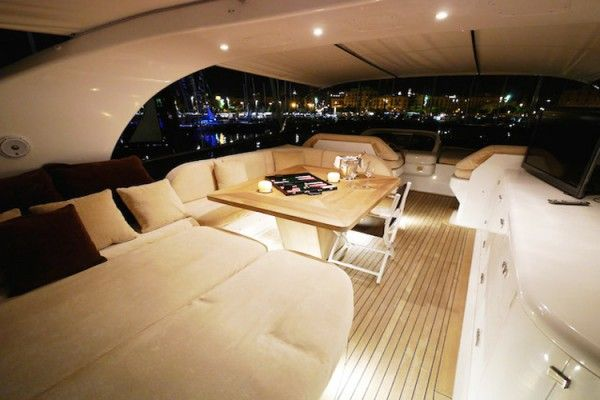 Lex yacht rent in Ibiza, sundeck