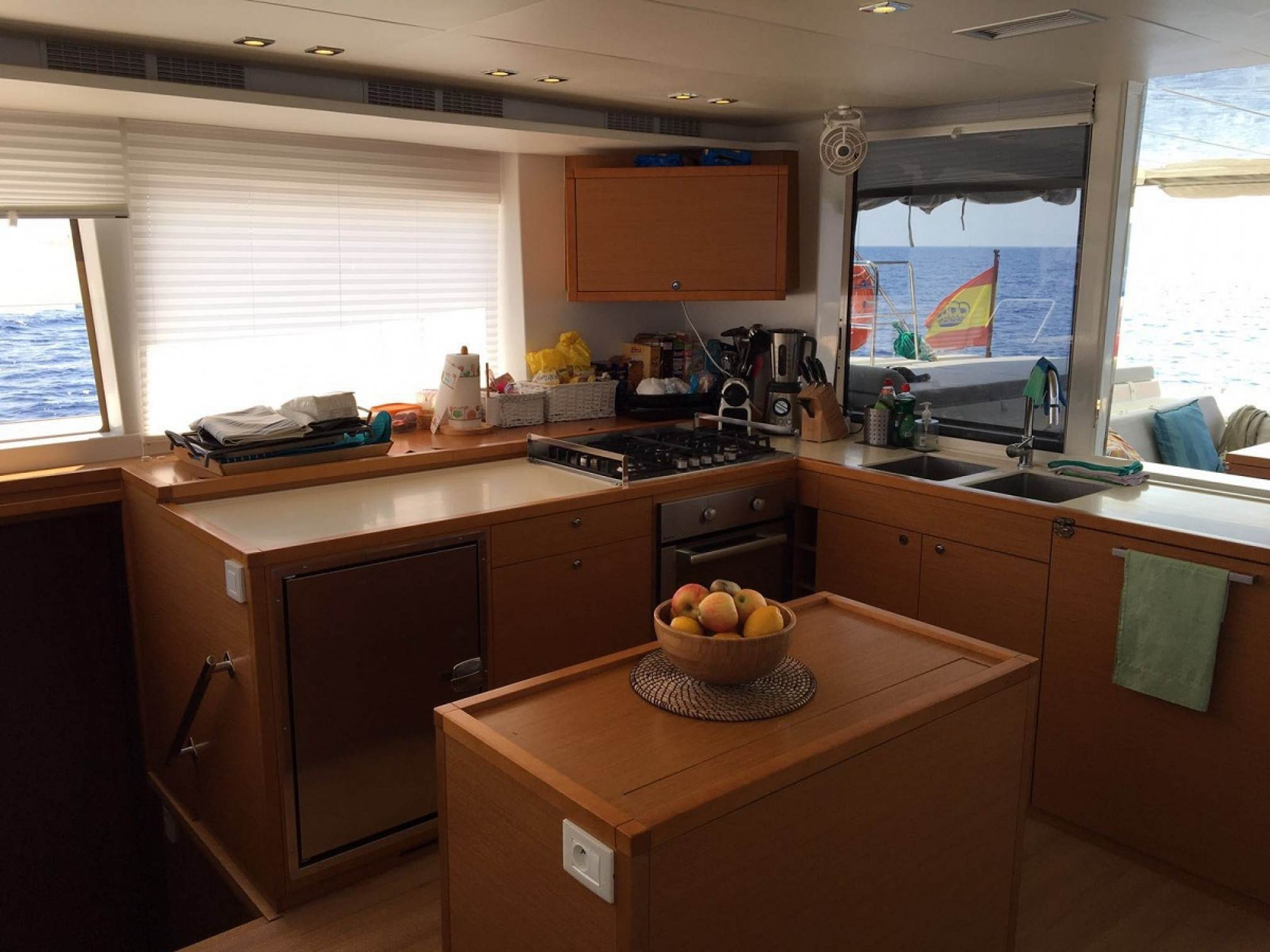 Lagoon 560 catamaran charter galley