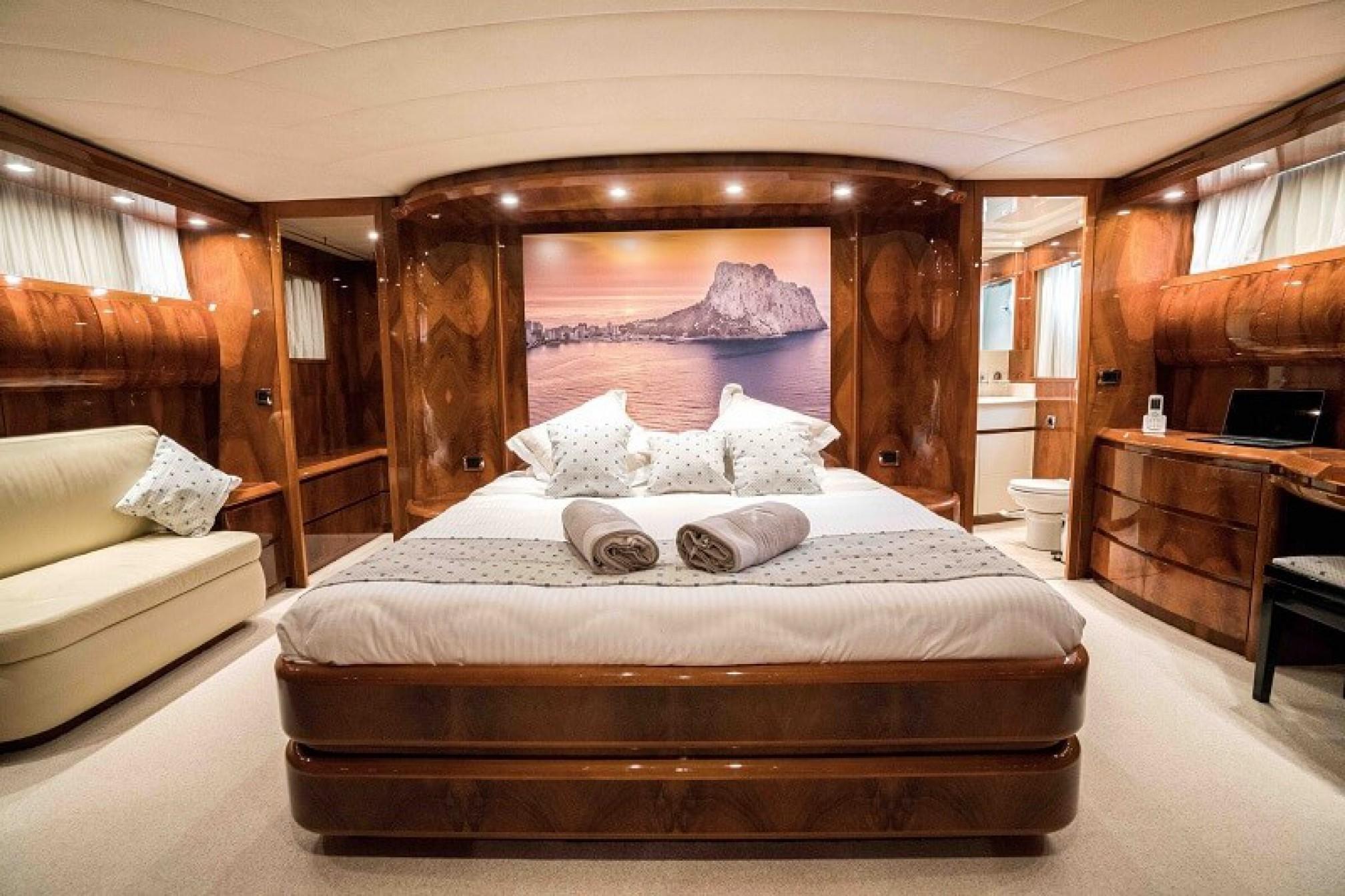Astondoa 98 'KARAYEL' yacht charter cabin
