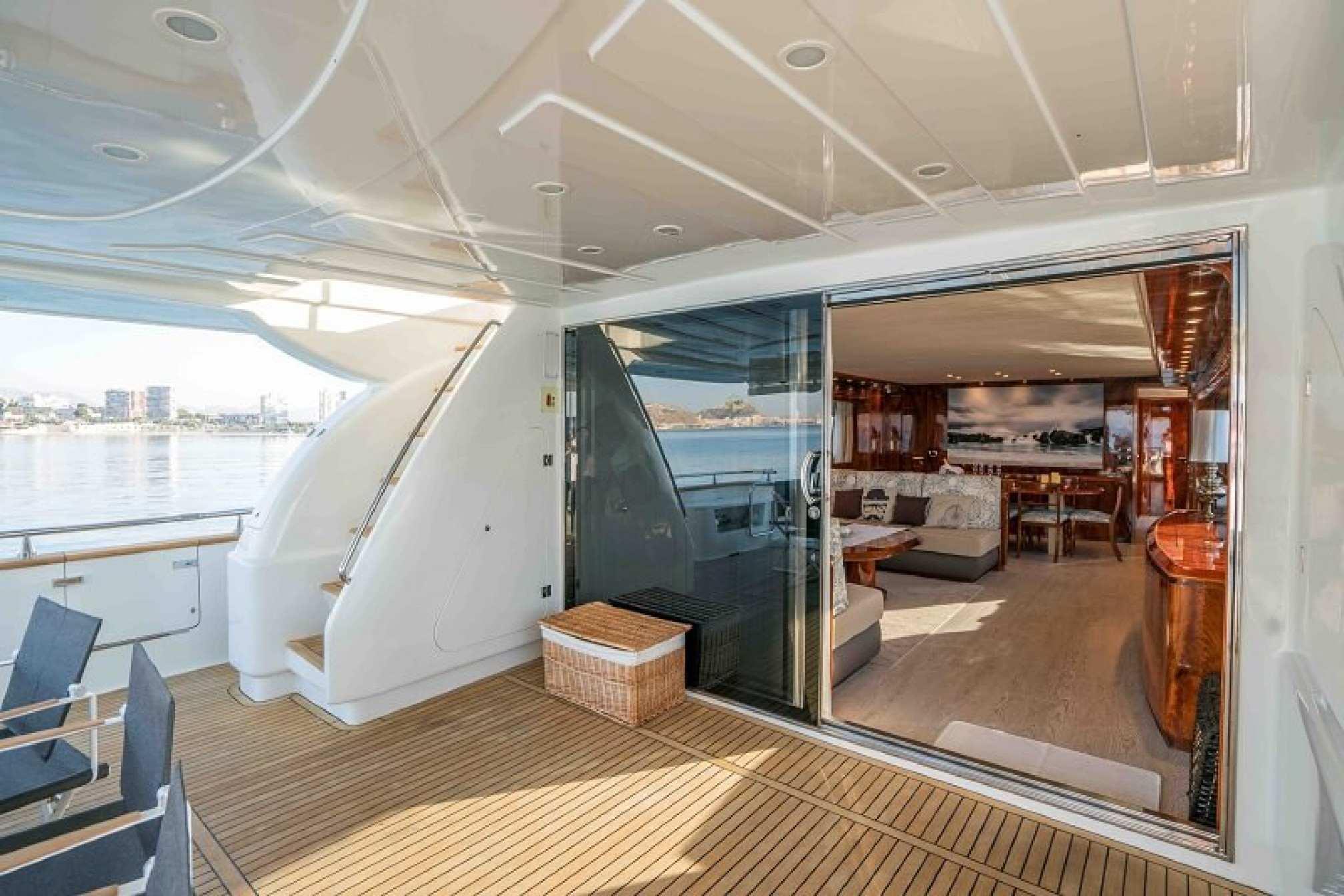 Astondoa 98 'KARAYEL' yacht charter cockpit