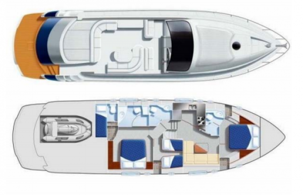 Drawing M/Y Pegasus