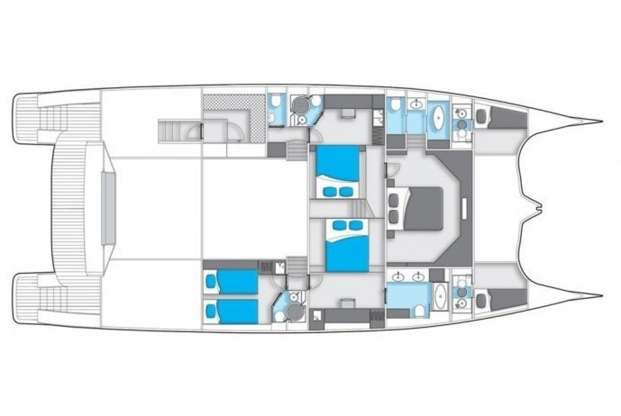Clouds Luxury Catamaran Layout