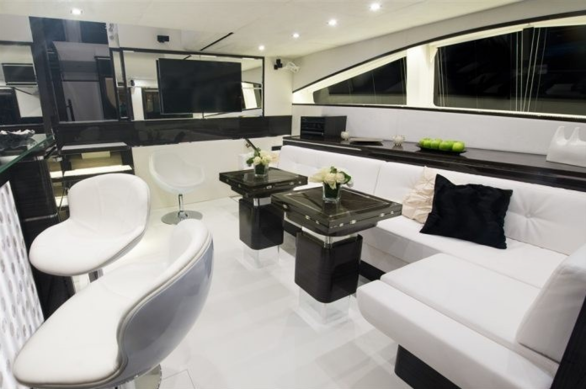 Clouds Luxury Catamaran Saloon
