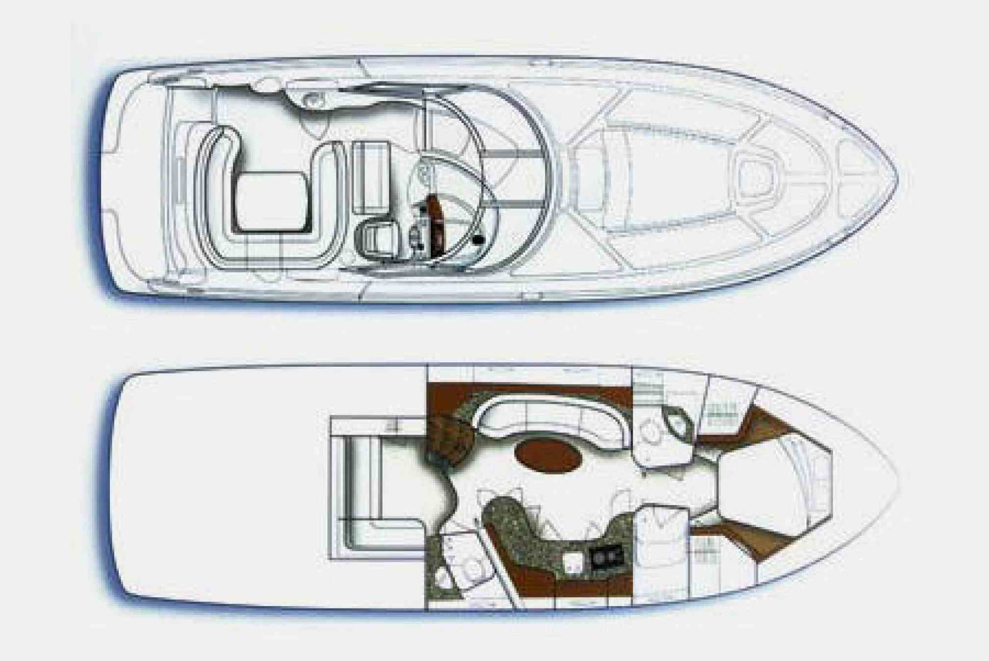 Sea Ray 455 motorboat charter layout
