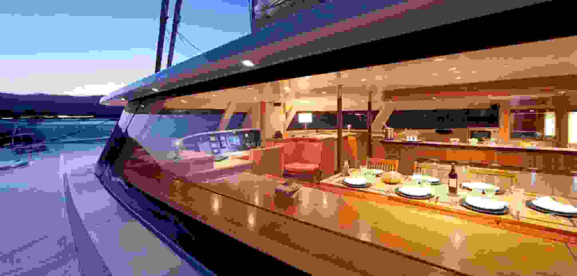 MobyDick Luxury Catamaran Outside