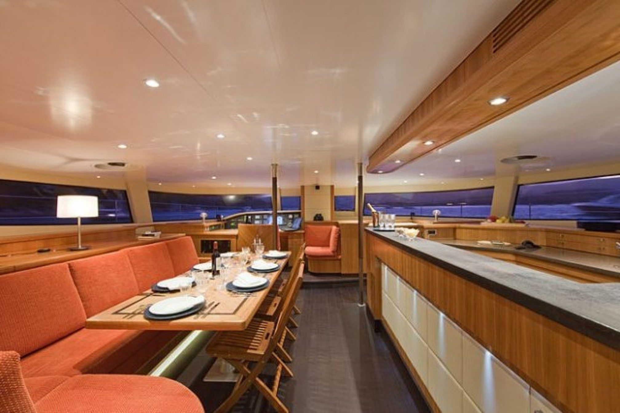 MobyDick Luxury Catamaran Saloon