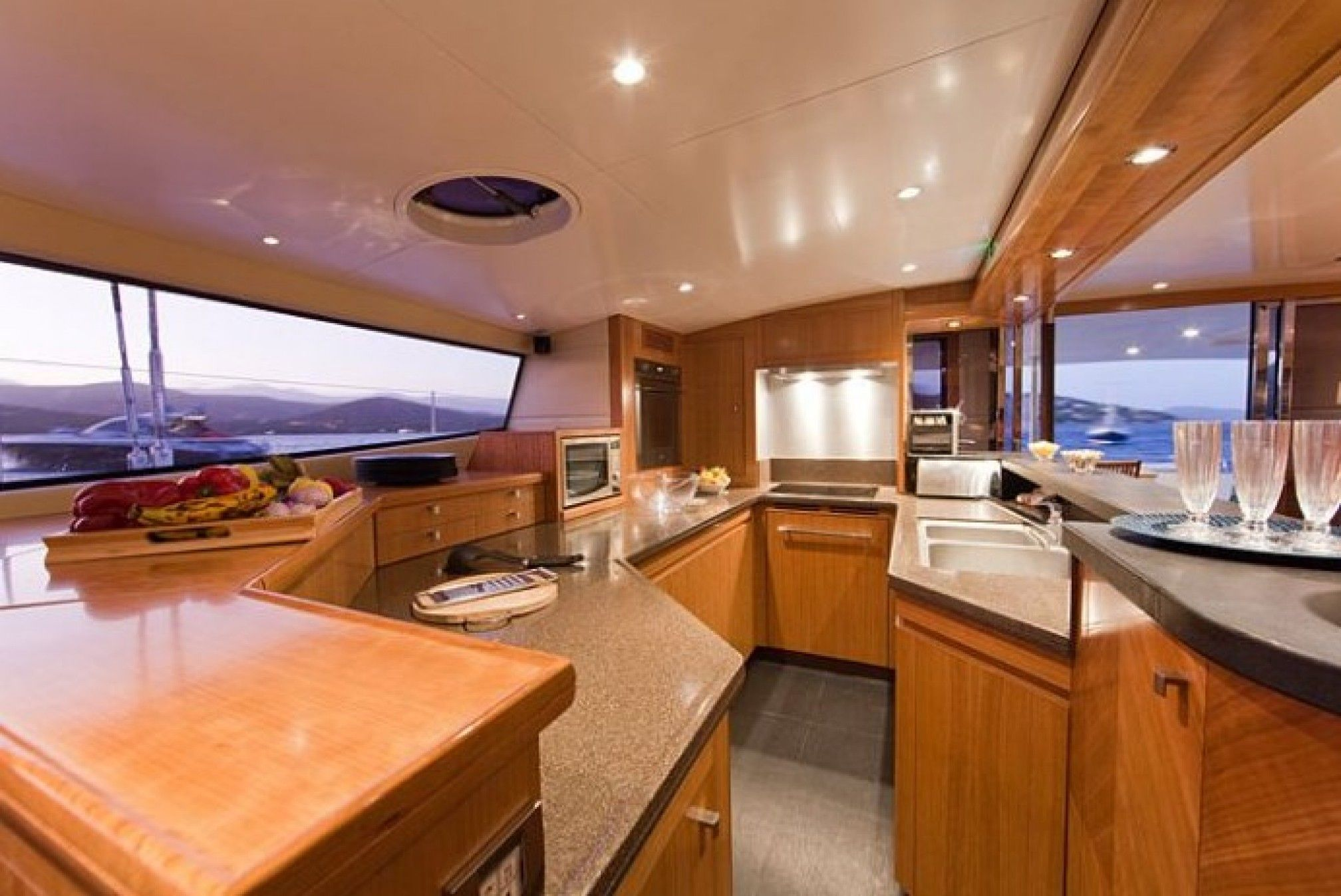MobyDick Luxury Catamaran Kitchen