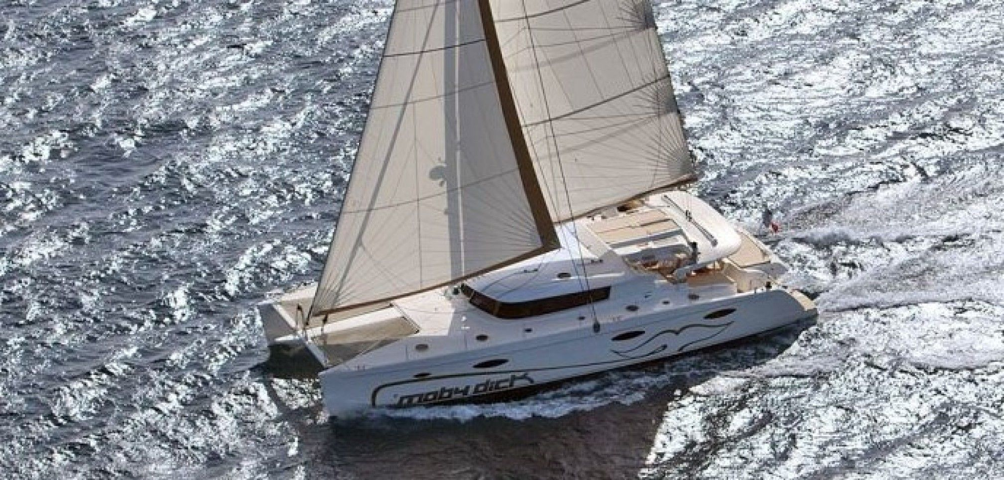 Moby Dick luxury catamaran charter sailing