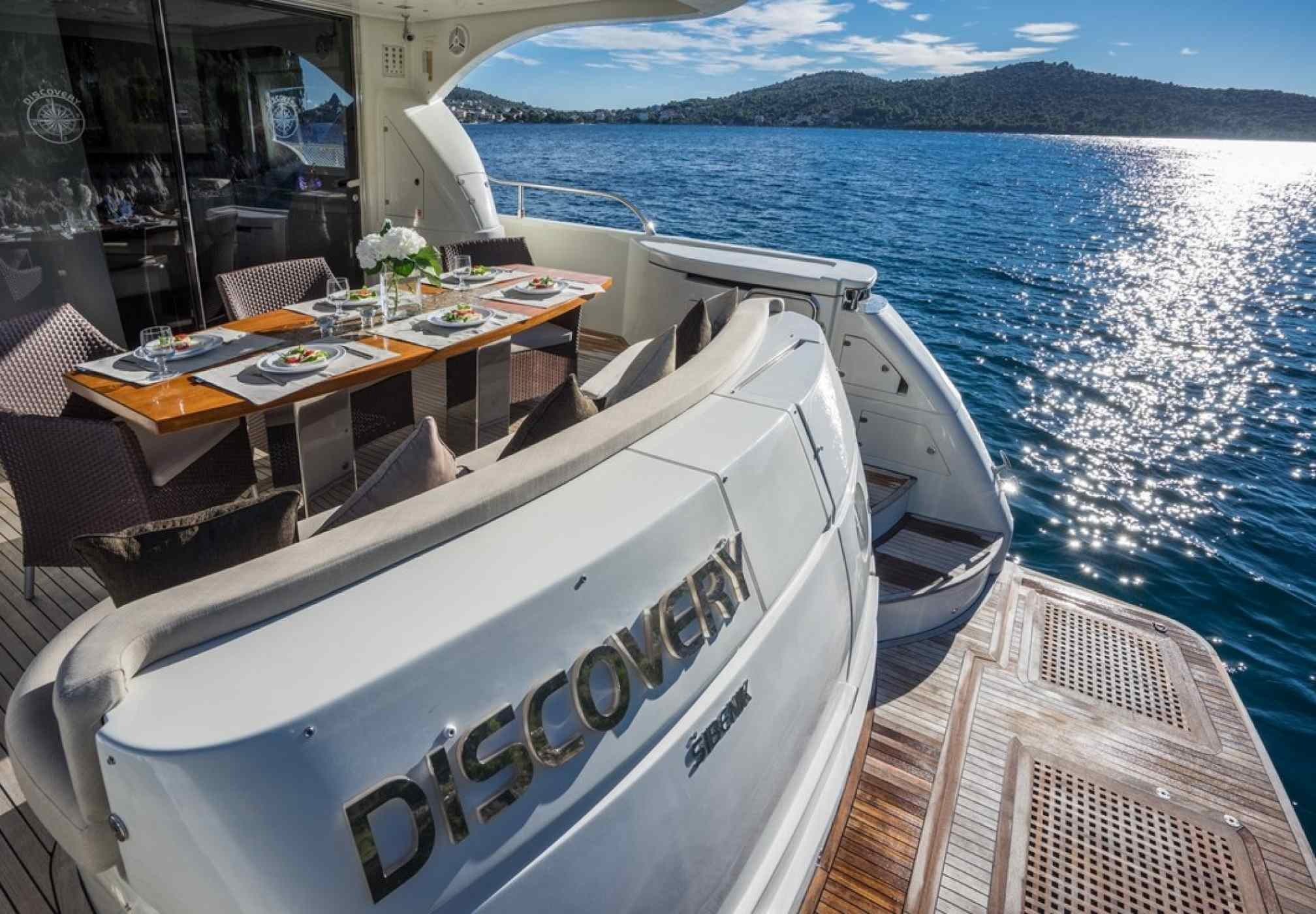 Discovery Luxury Yacht Stern