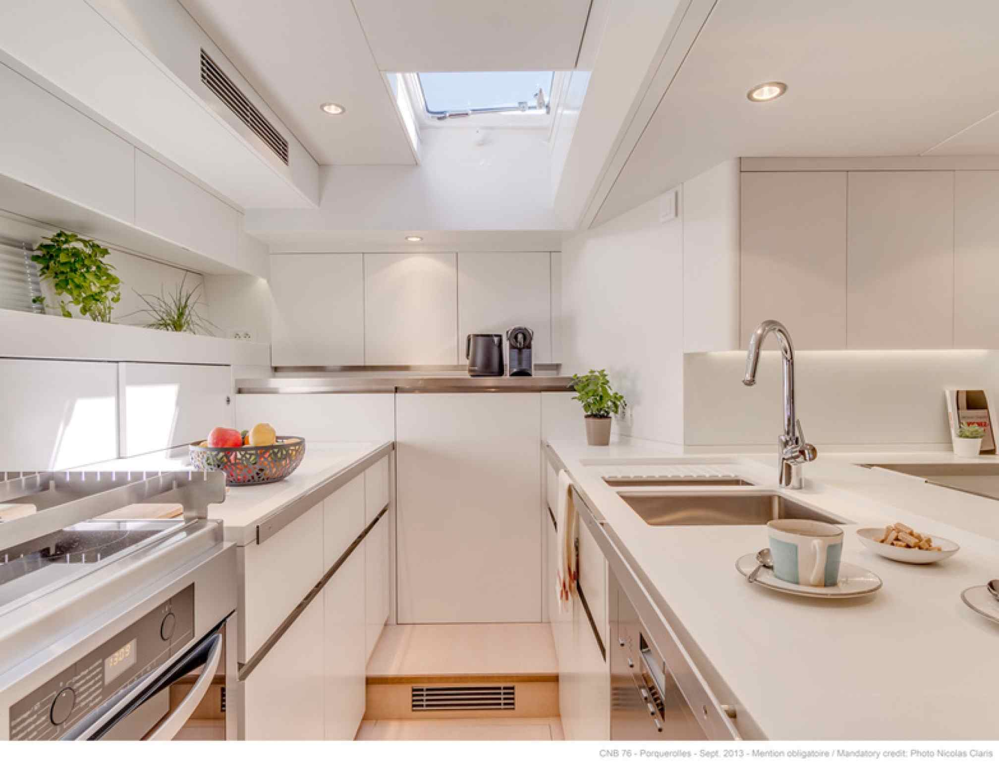 Leo Luxury Sailboat Kitchen