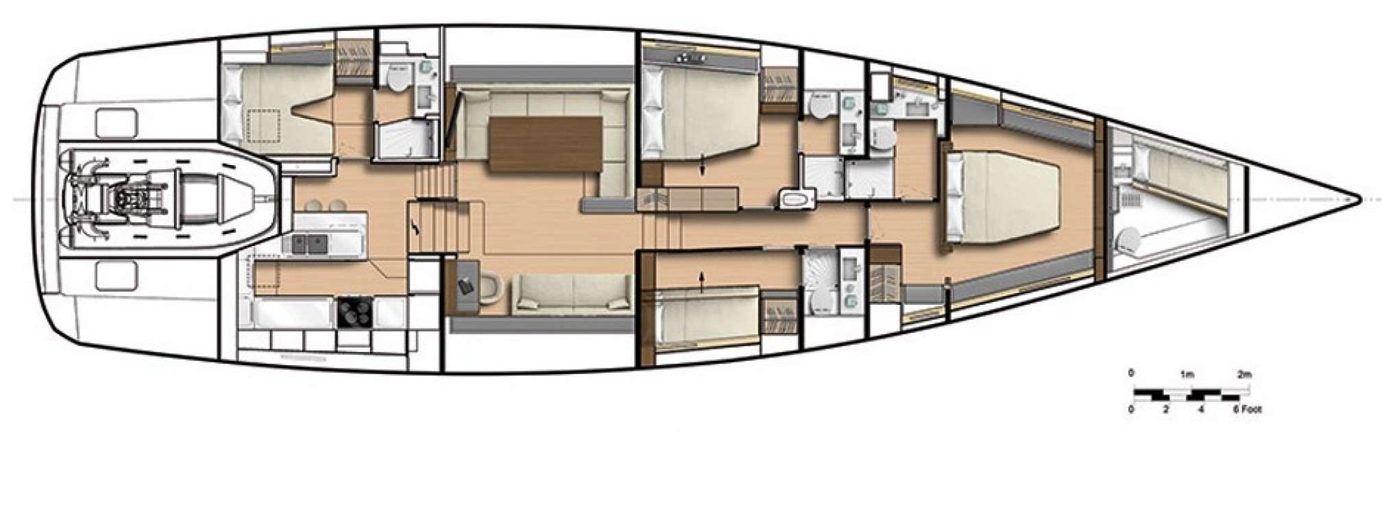 Leo Luxury Sailboat Layout