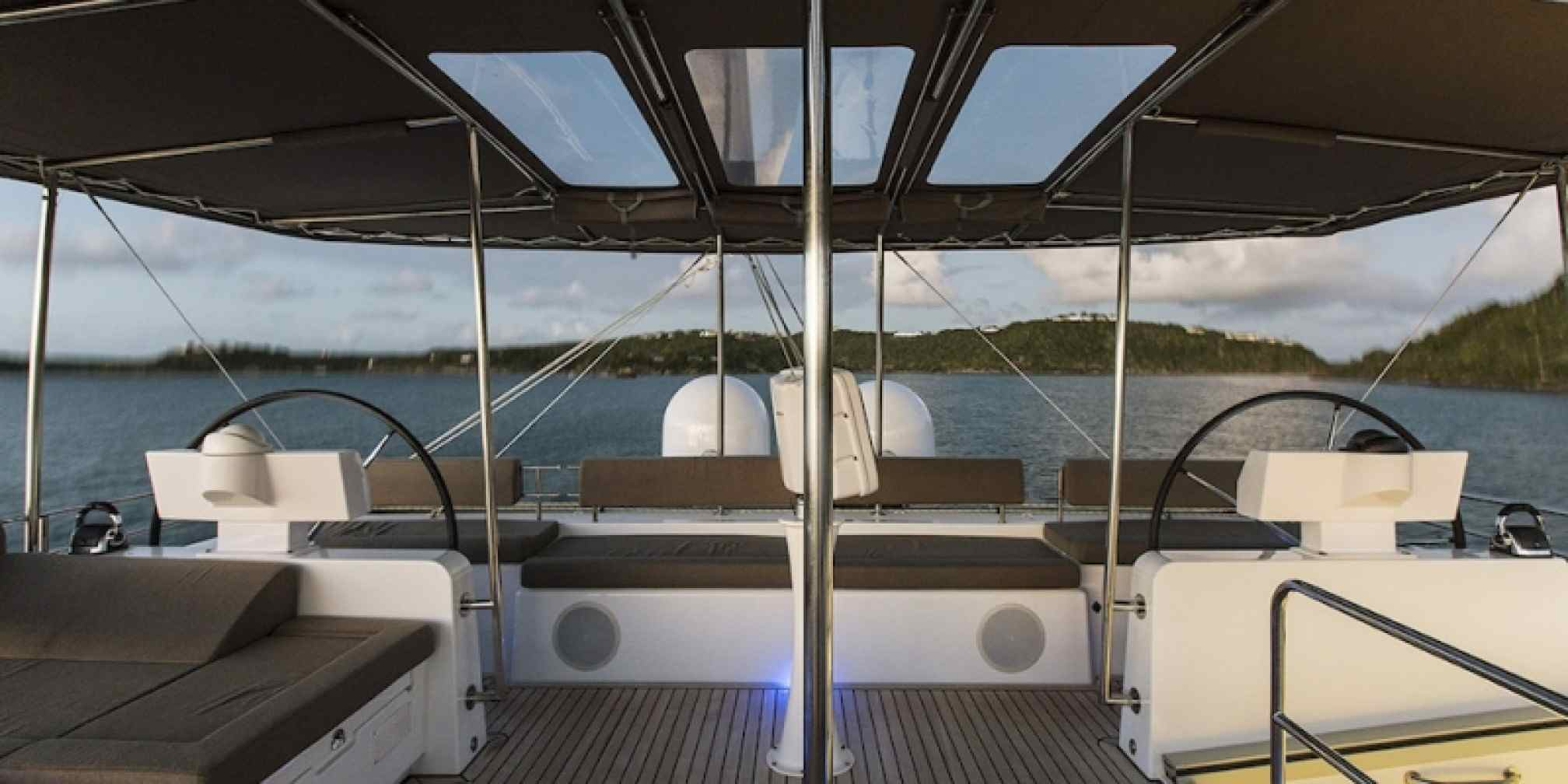 Vacoa Luxury Catamaran Flybridge