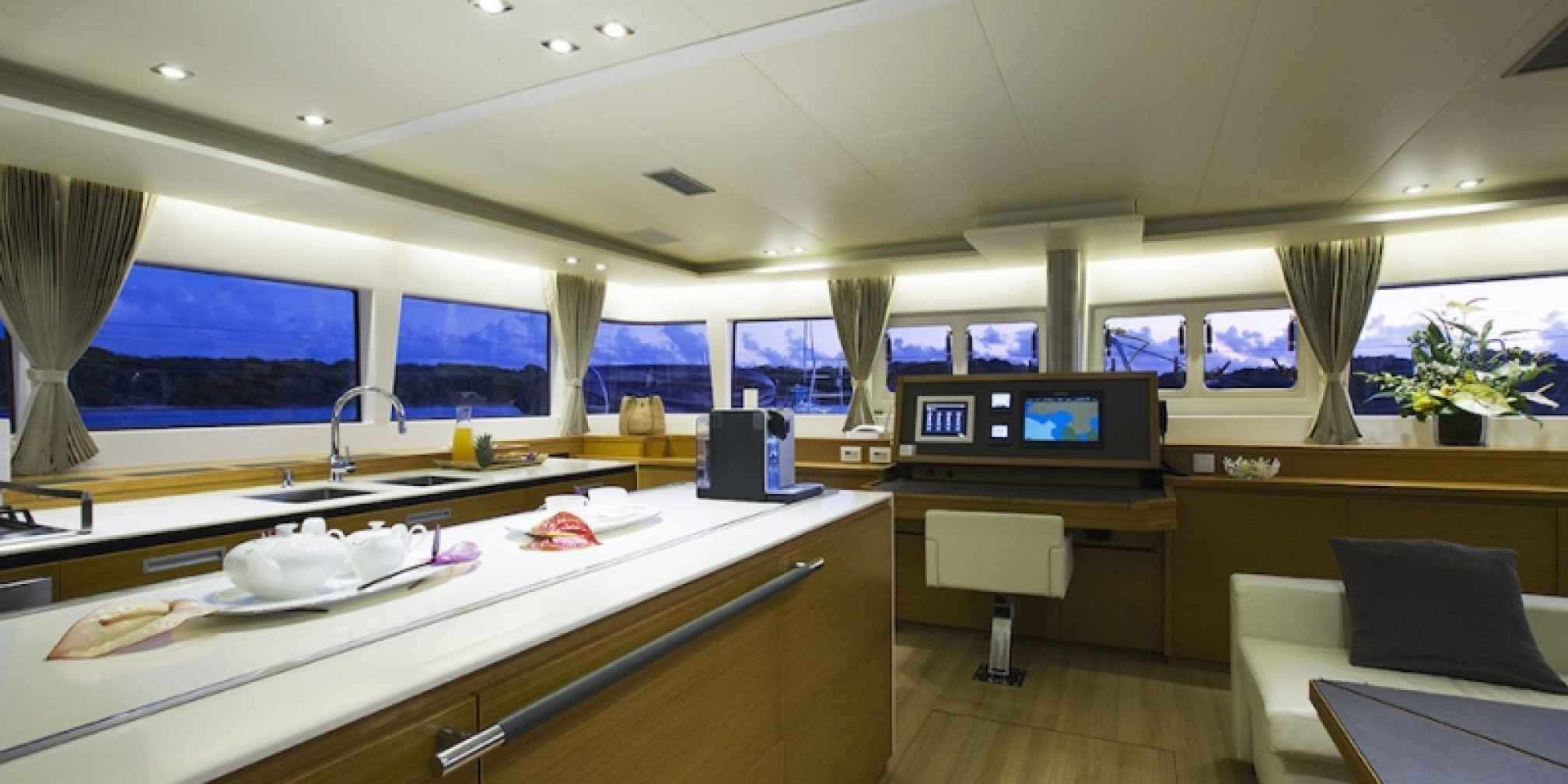 Vacoa Luxury Catamaran Kitchen