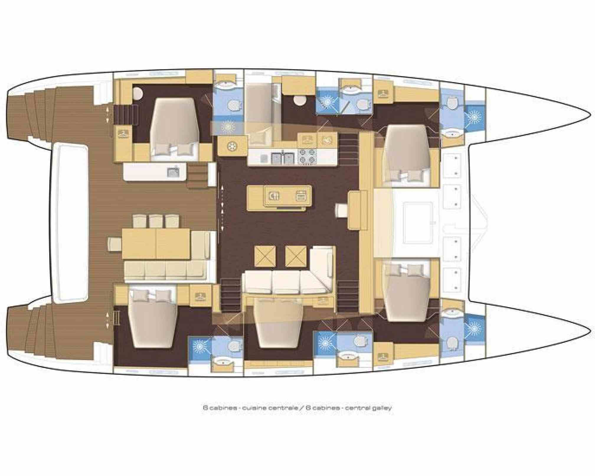 Vacoa Luxury Catamaran Layout