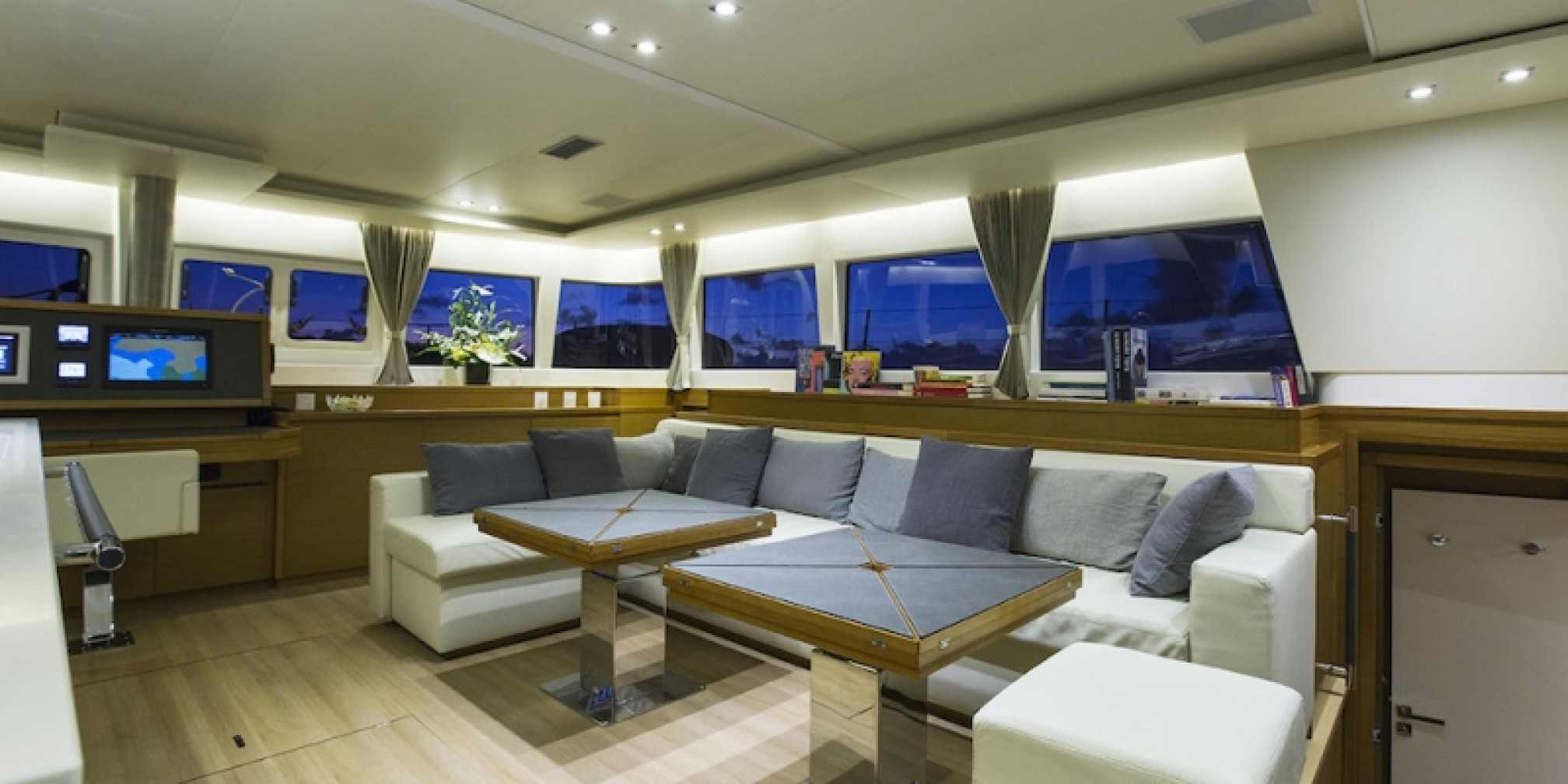 Vacoa Luxury Catamaran Saloon