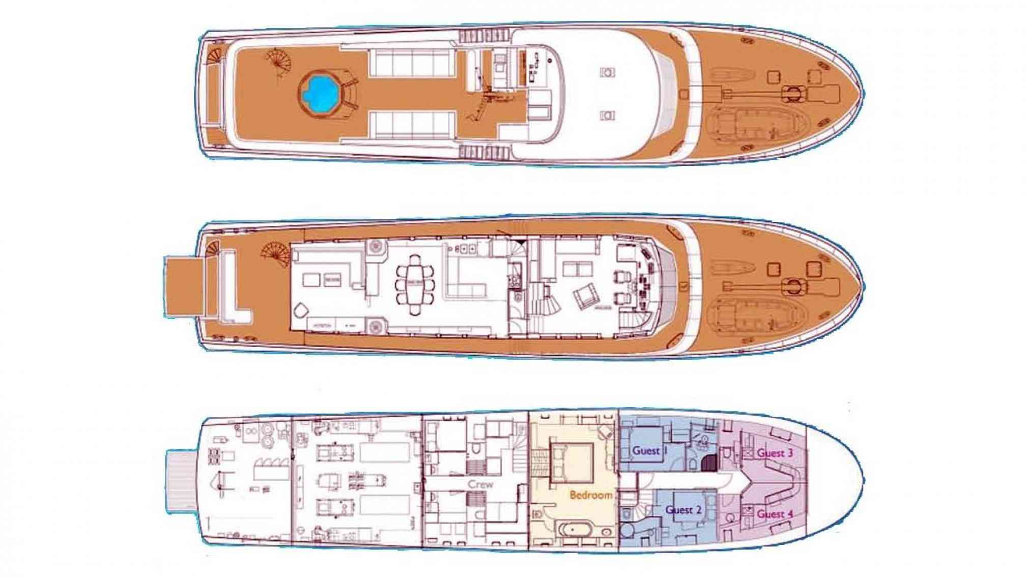 Paolyre Luxury Yacht Layout