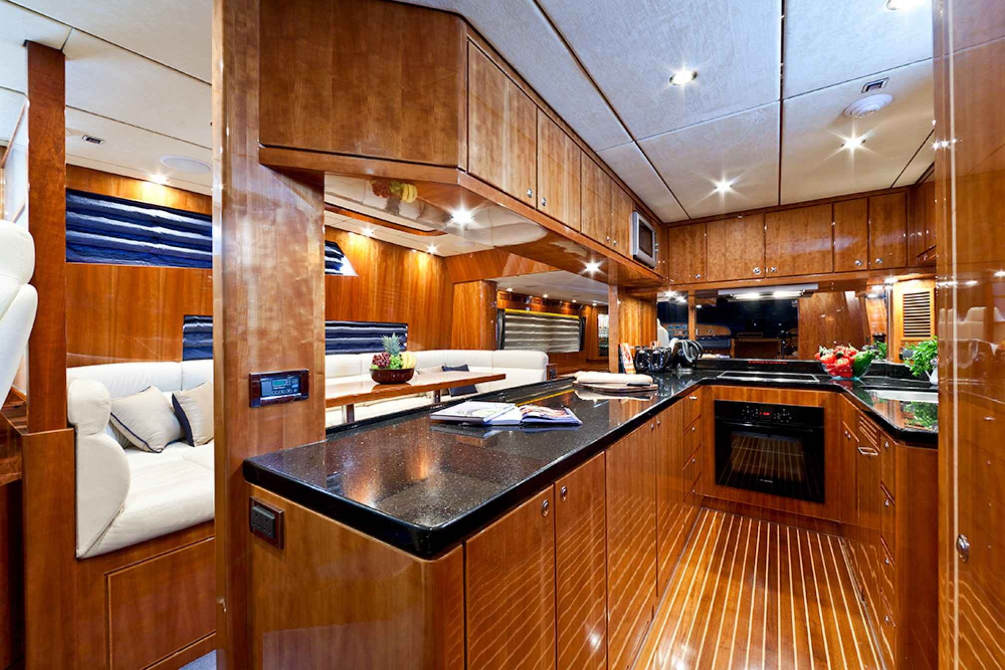 Samaric luxury yacht charter kitchen