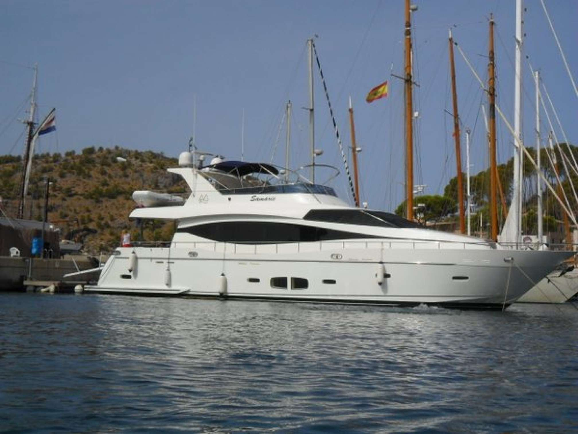 Samaric luxury yacht charter moored