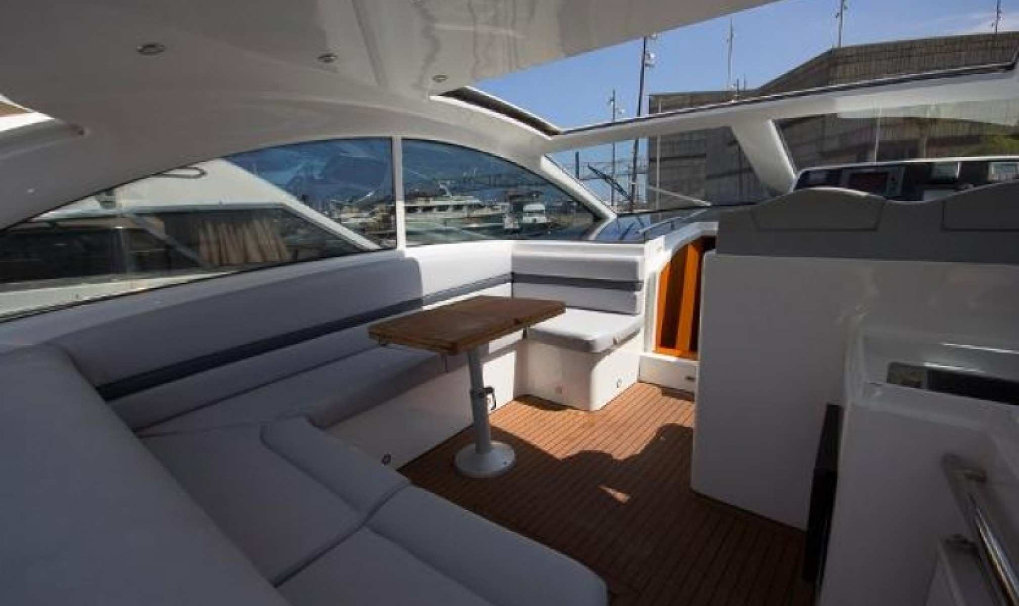 Numarine 55 charter yacht salon
