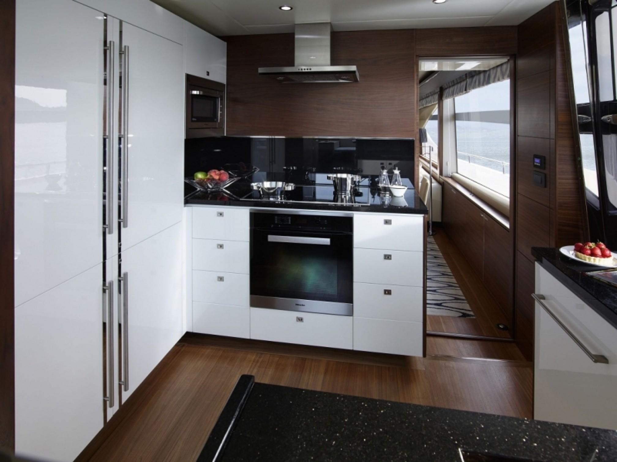 Princess 85 yacht charter kitchen