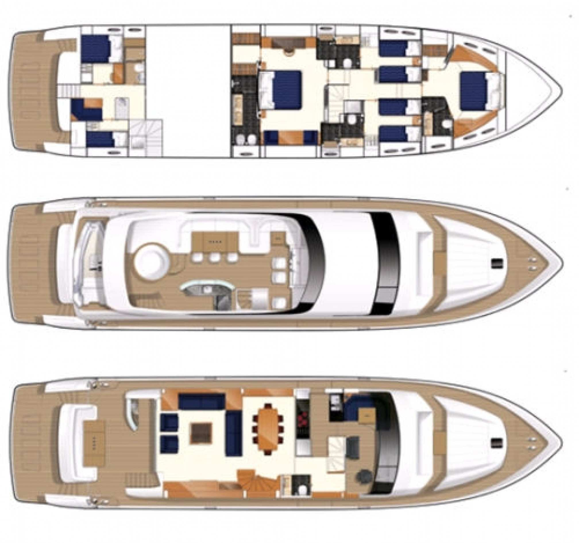 Princess 85 yacht charter layout