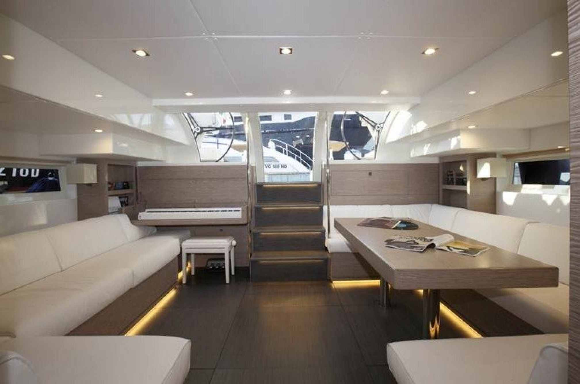 Vismara V80 luxury sailboat charter salon