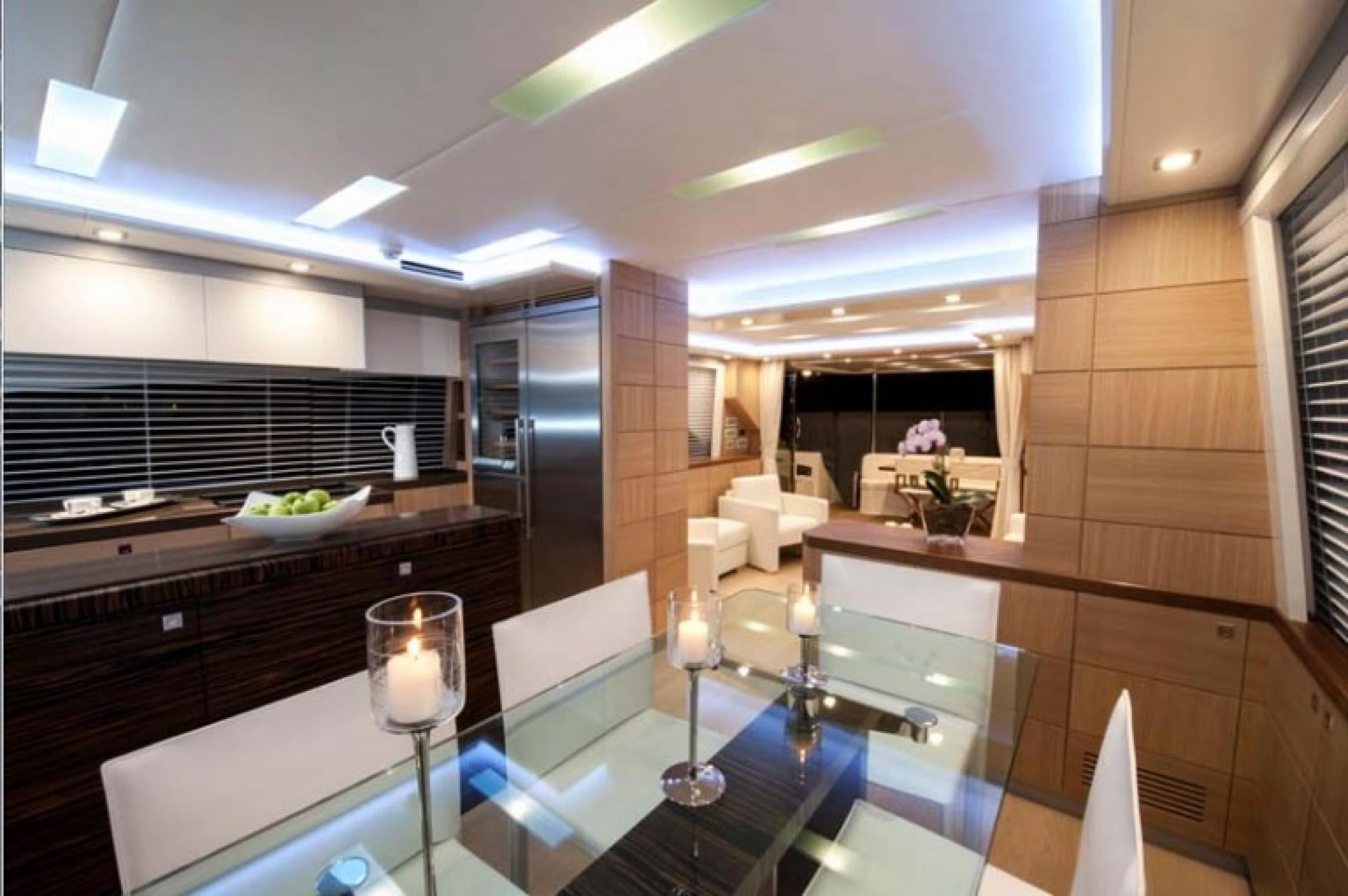 Astondoa 72 yacht charter kitchen