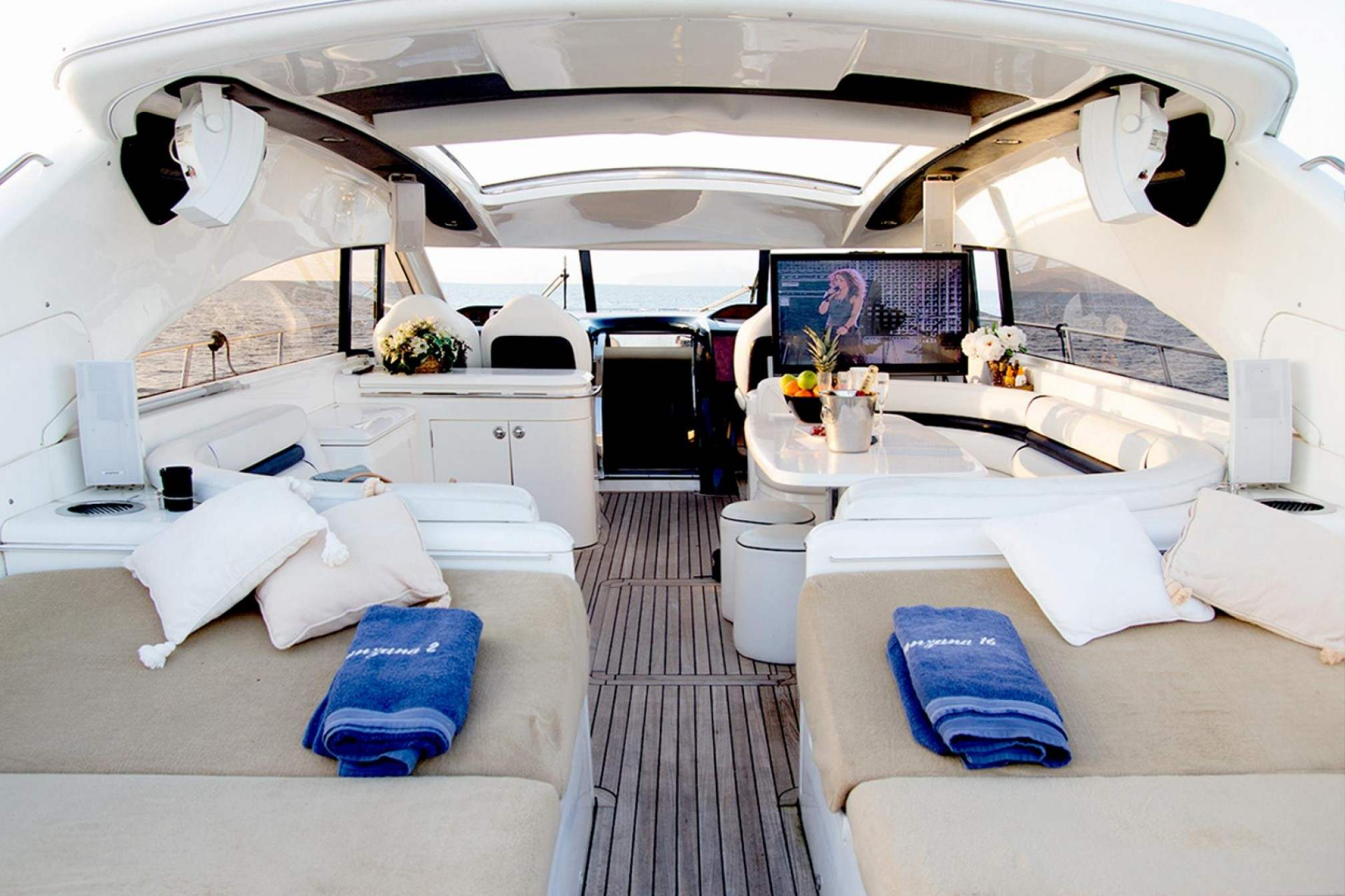 Princess V65 Manzana yacht charter outdoors