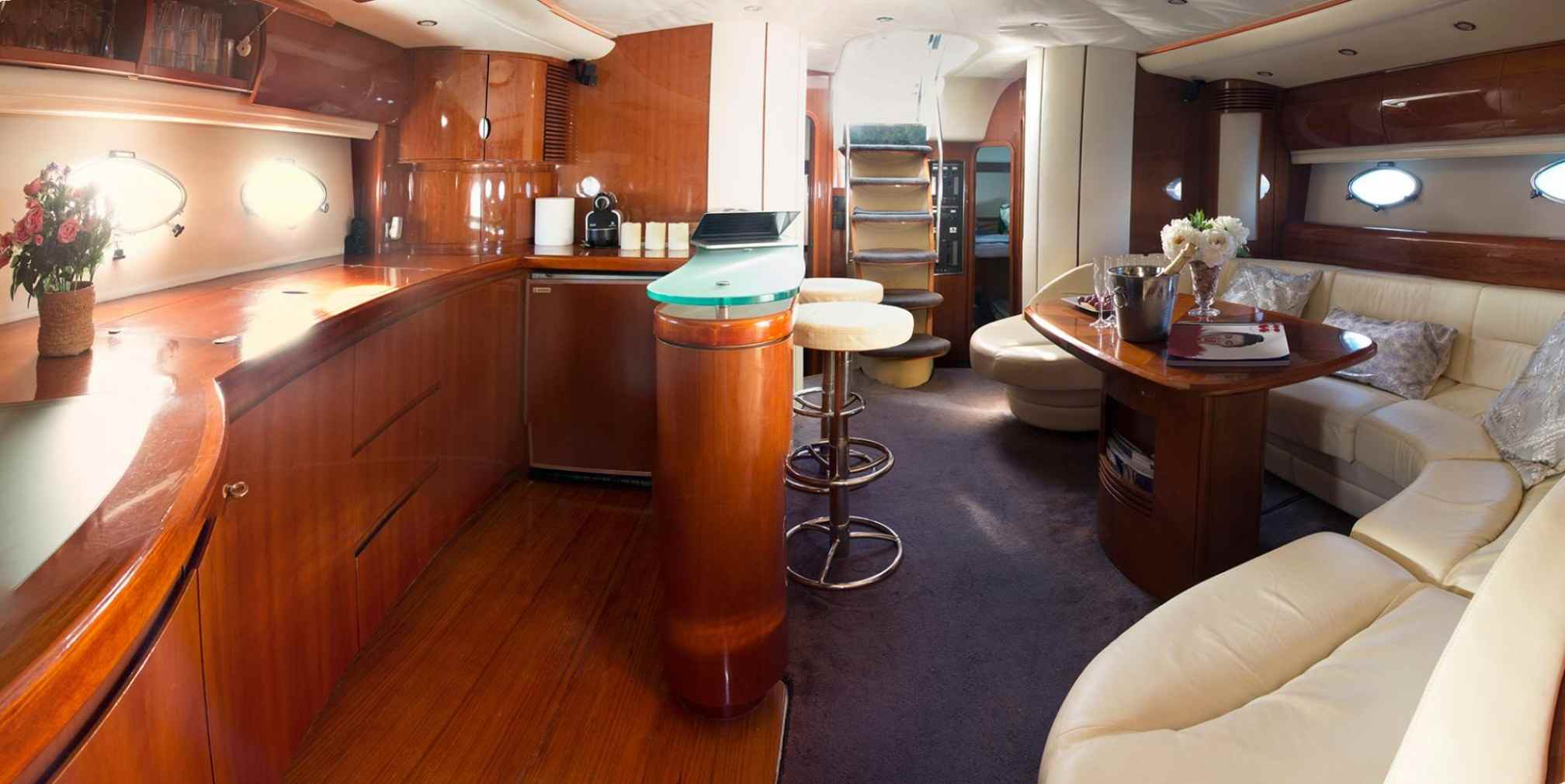Princess V65 Manzana yacht charter salon