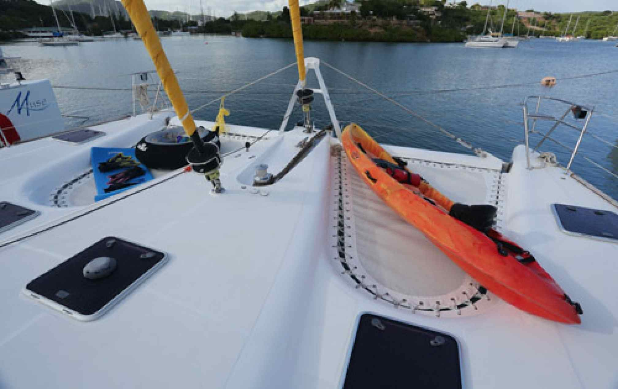 Lady Dominique II luxury catamaran charter water toys