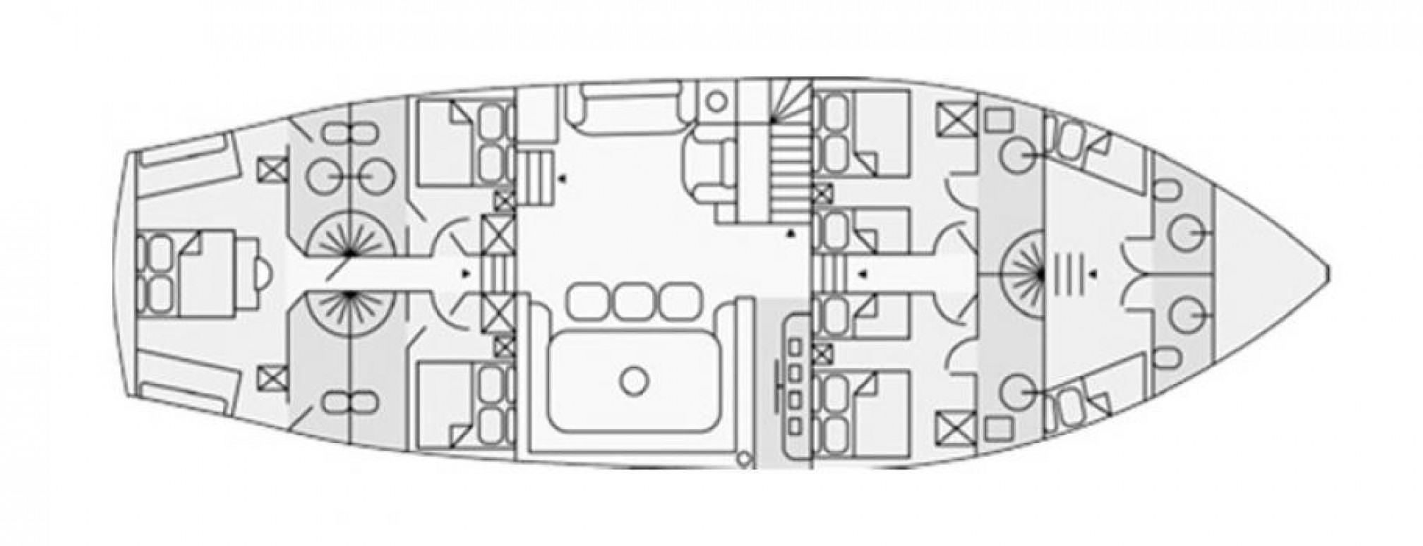 Dvi Marije gulet charter layout