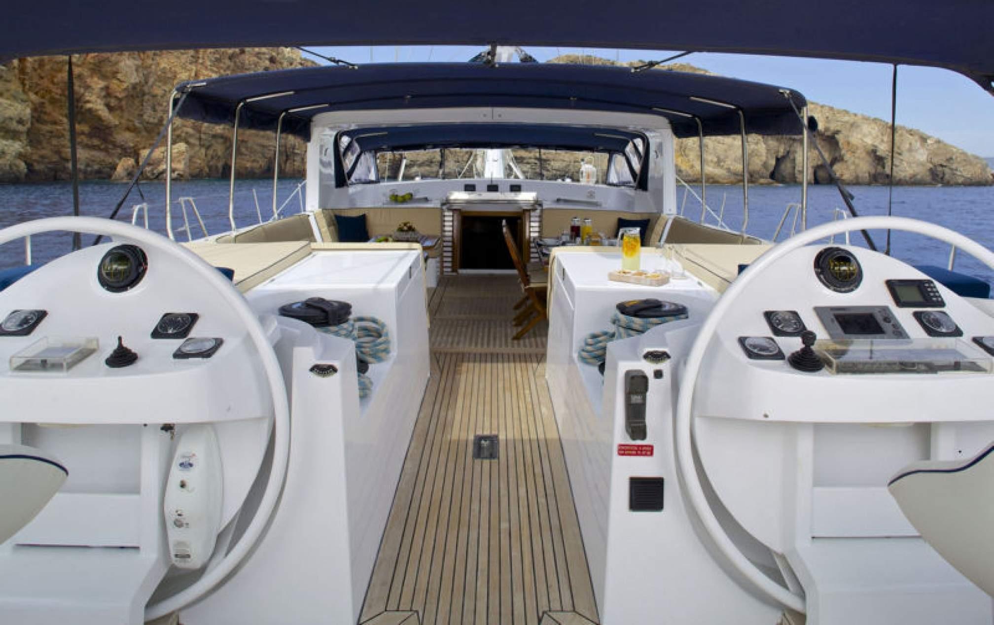 Rental yacht AMADEUS deck
