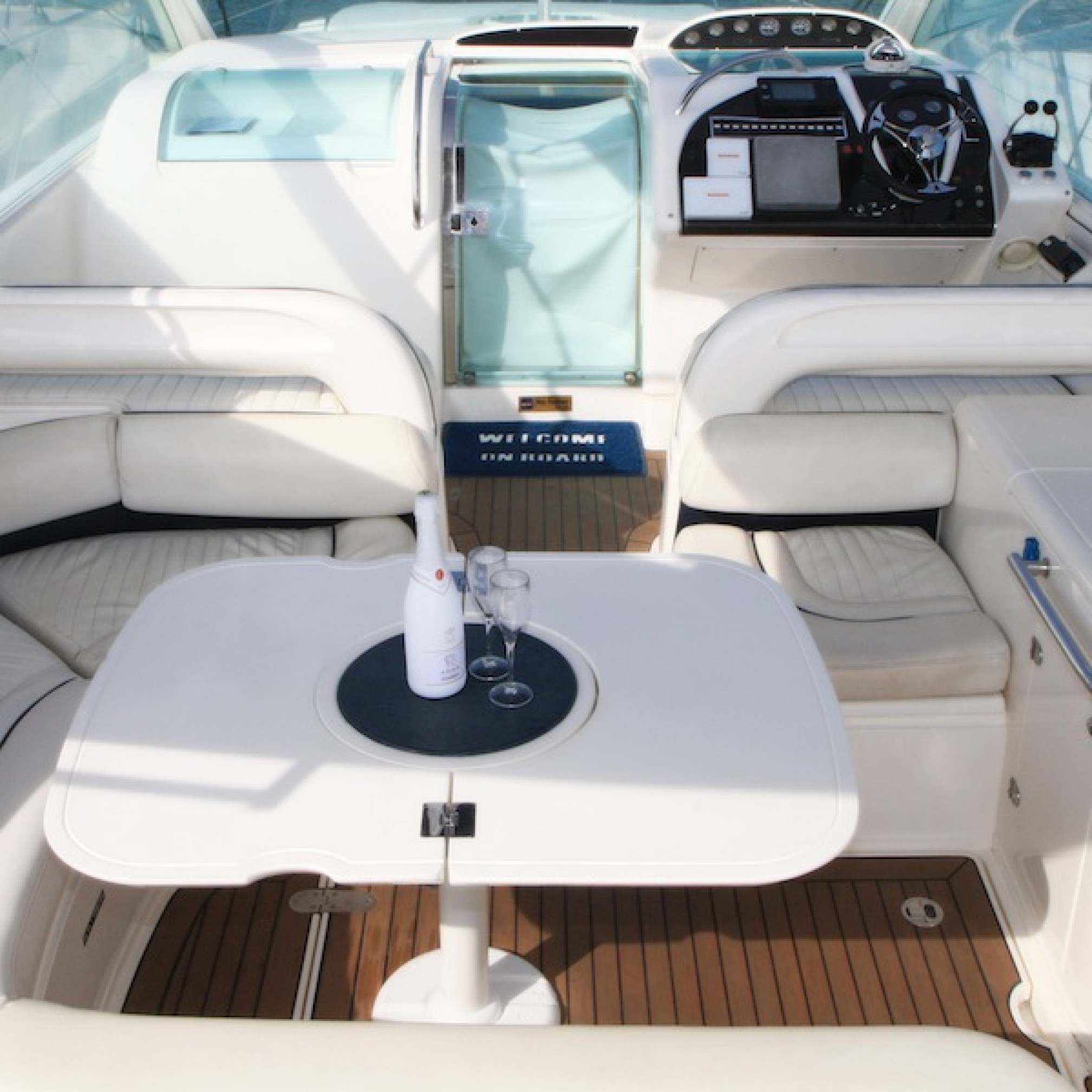 Targa 48 charter yacht outdoors