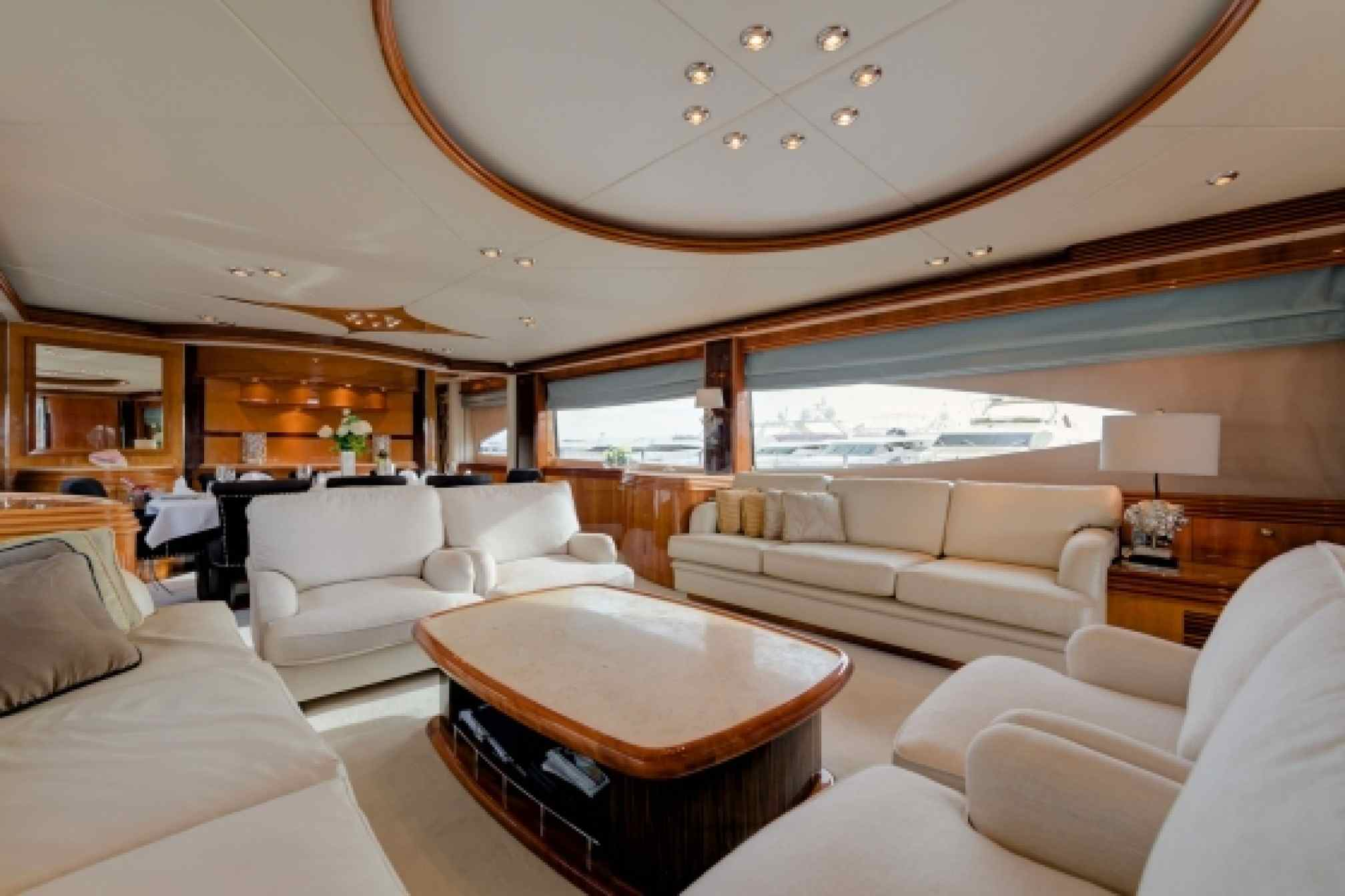 Sunseeker 105 charter yacht salon