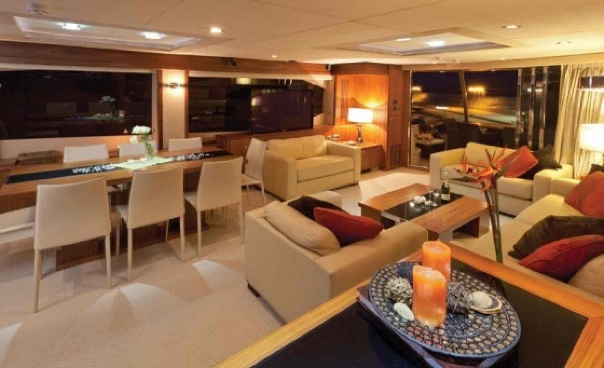 Sunseeker 86 charter yacht salon