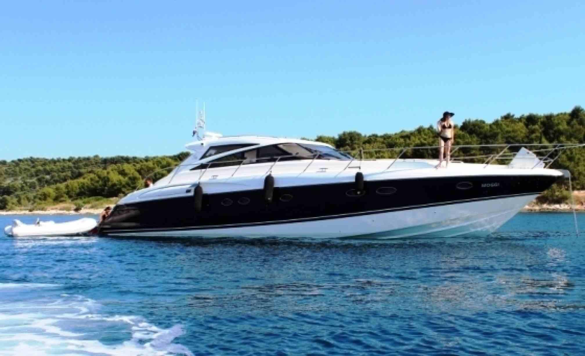 Princess V58 charter yacht sailing