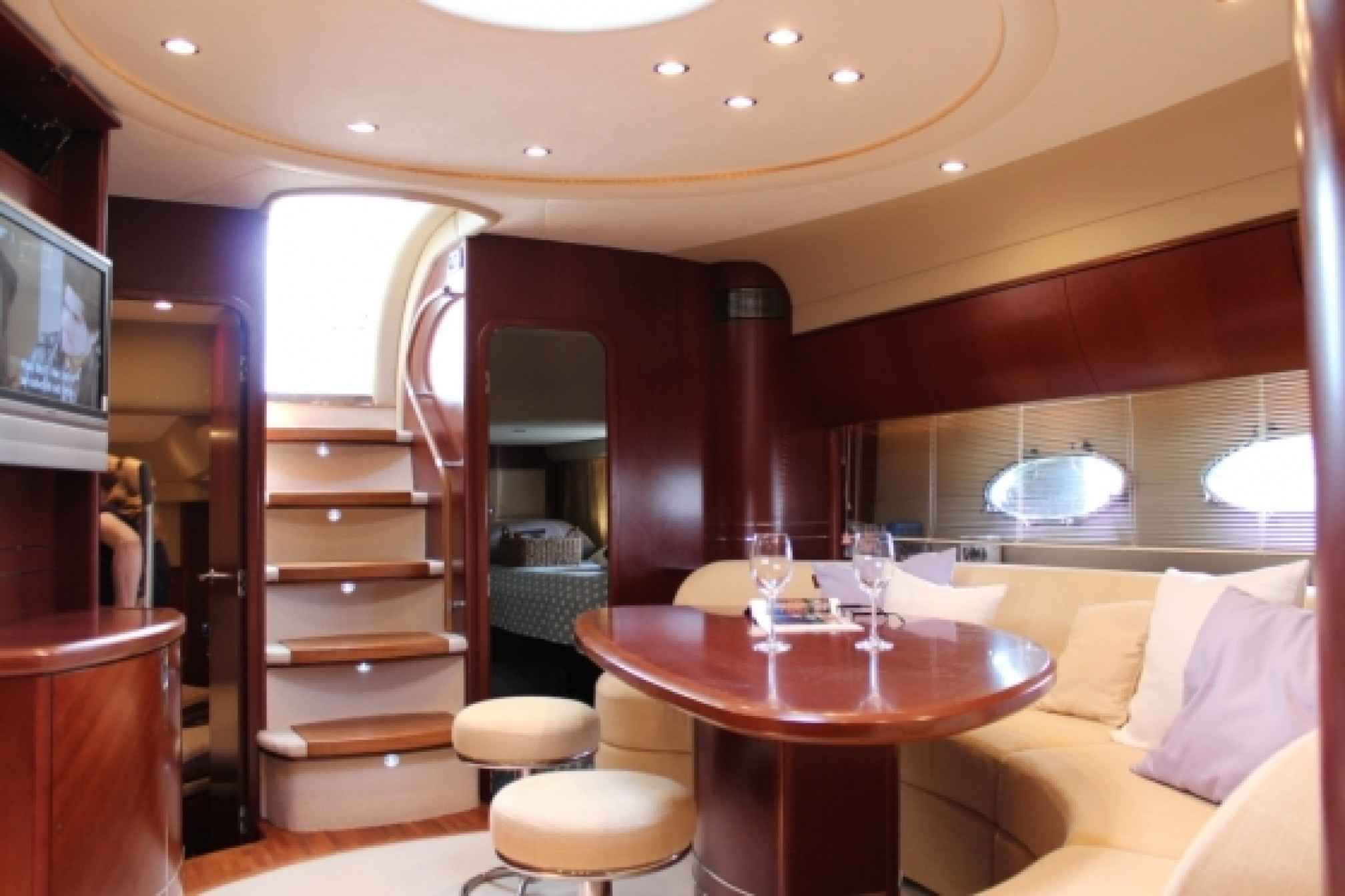 Princess V58 charter yacht salon