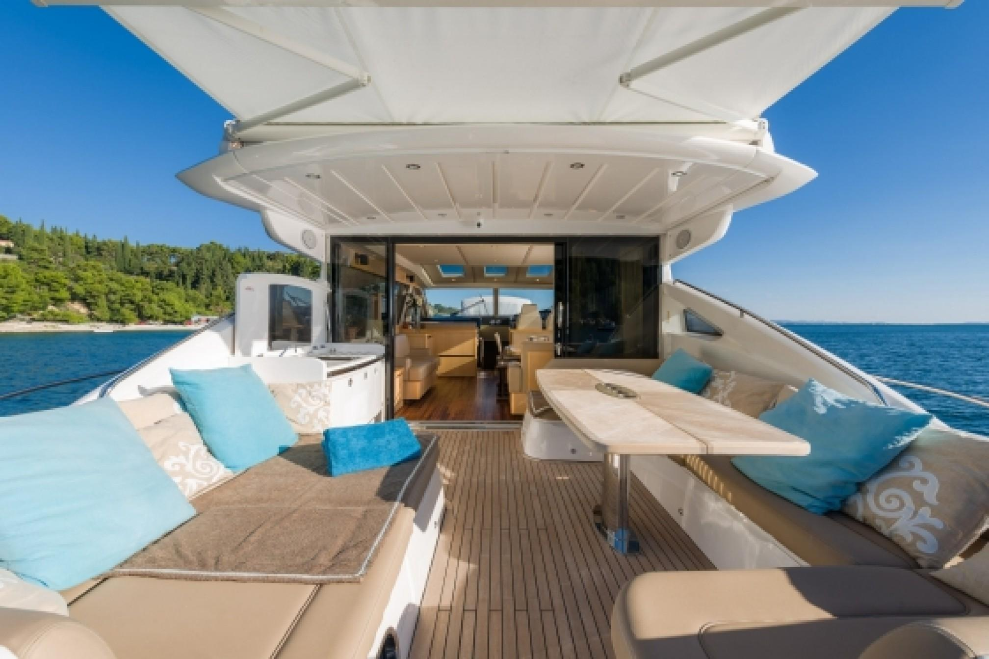 Princess V65 charter yacht outdoors