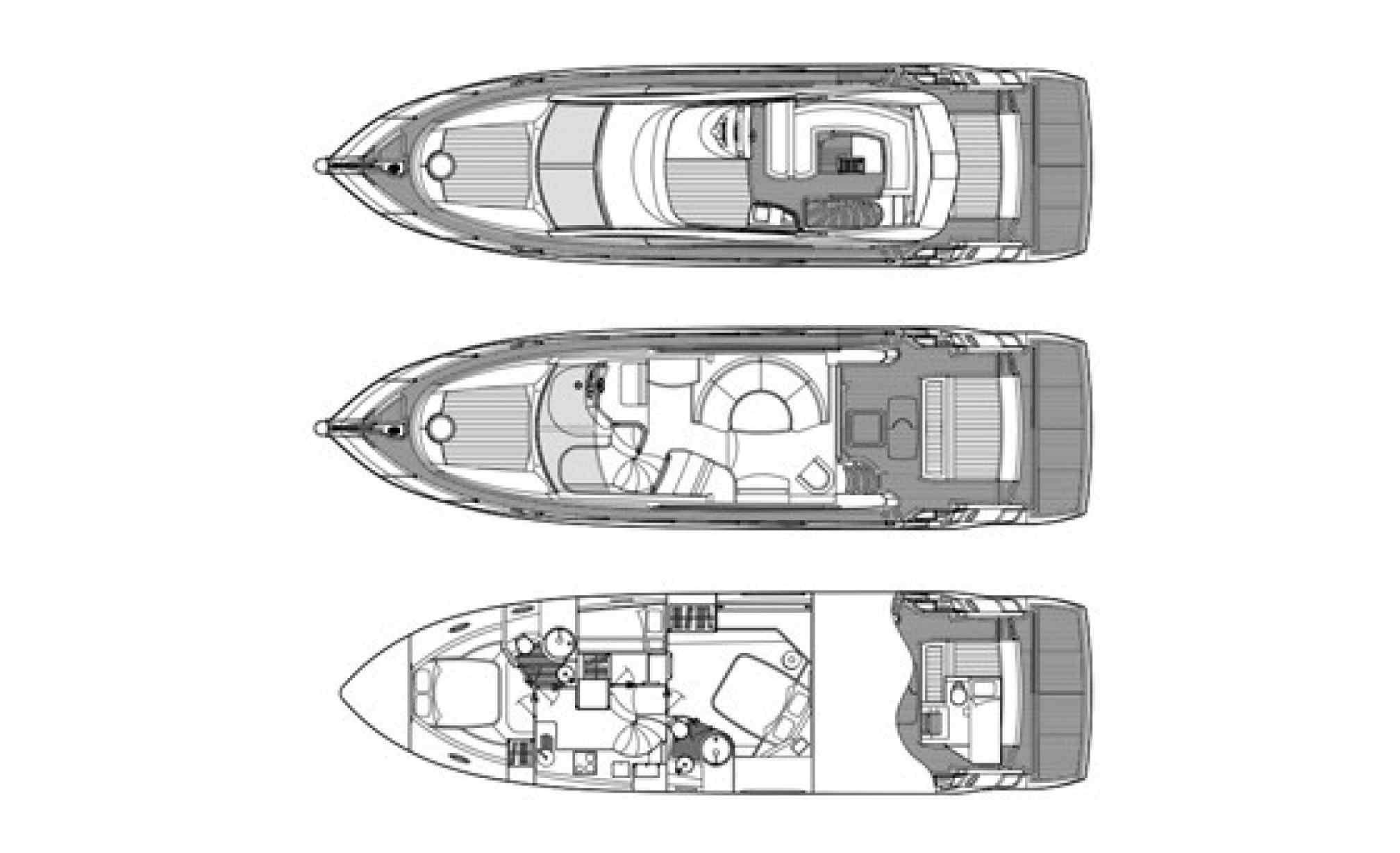 Sunseeker manhattan 52 charter yacht layout