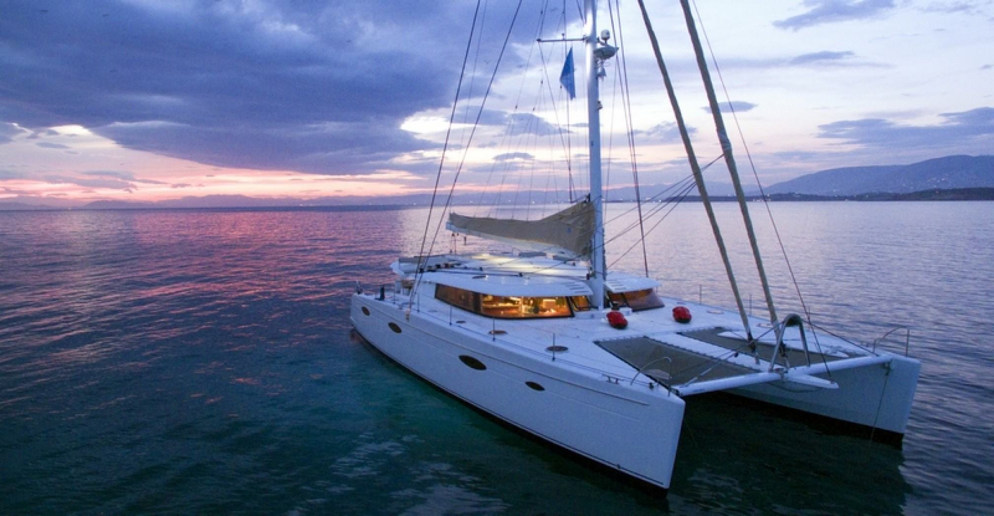 'World's End' catamaran charter mooring