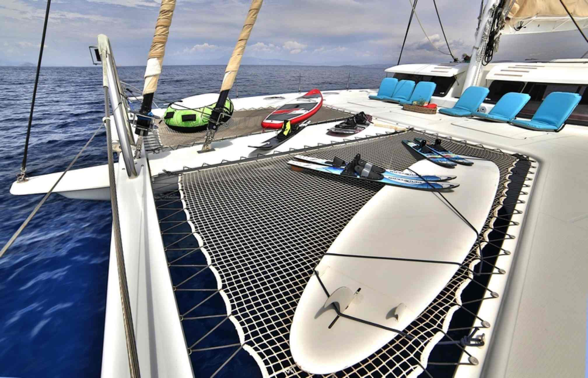 'World's End' catamaran charter water toys