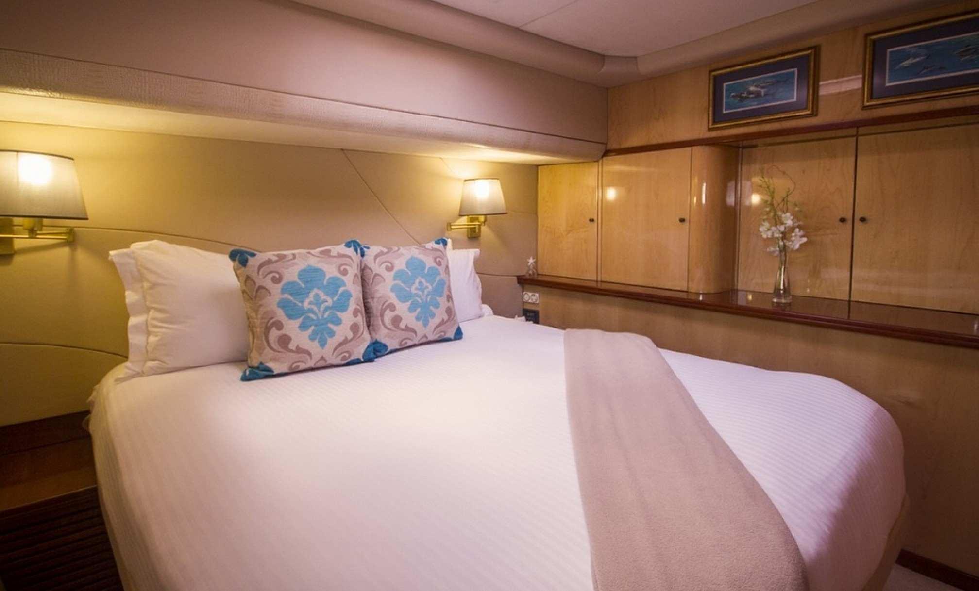 KINGS RANSOM luxury catamaran charter cabin