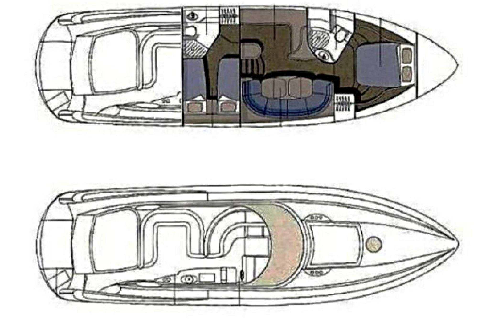 Sunseeker camargue 50 charter motorboat layout