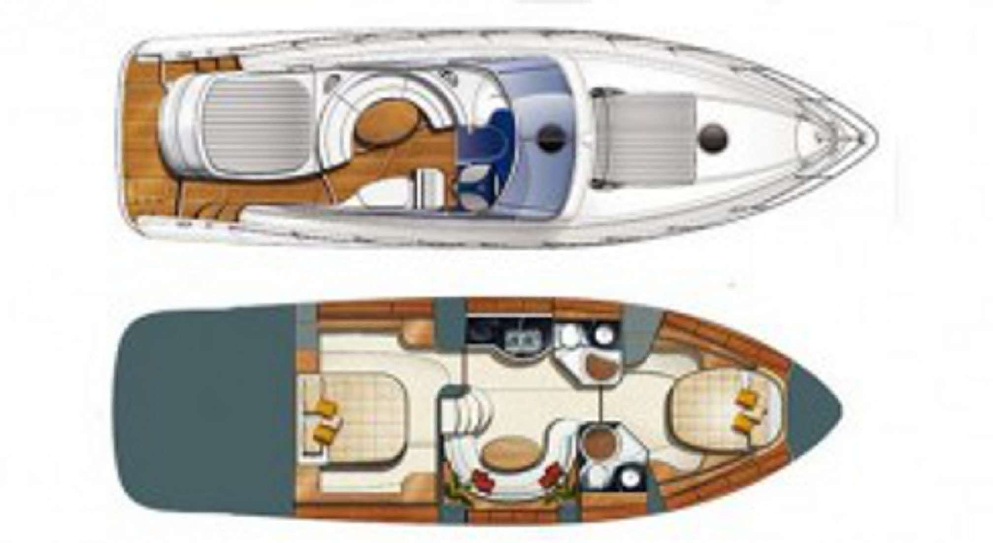 Gobbi Atlantis 47 charter motorboat layout