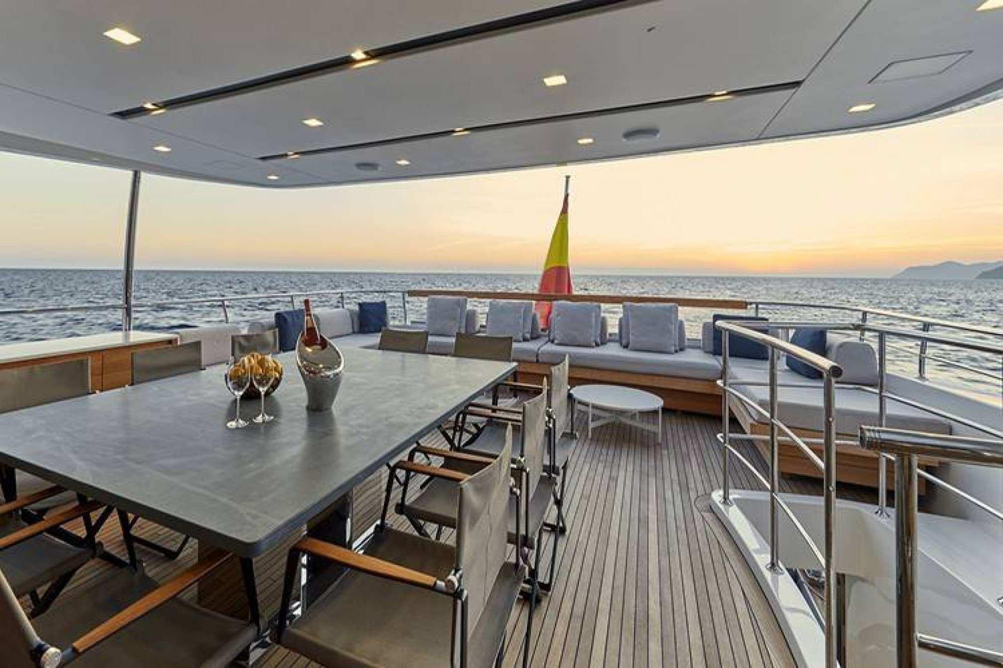 San Lorenzo 126 charter yacht outdoors