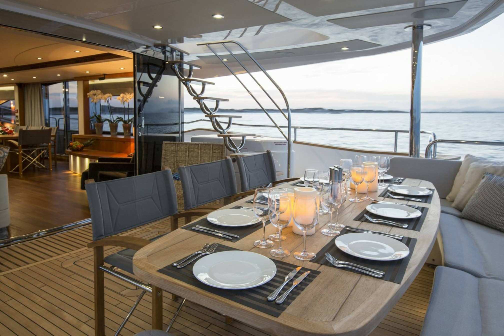 Sunseeker 80 charter yacht outdoors